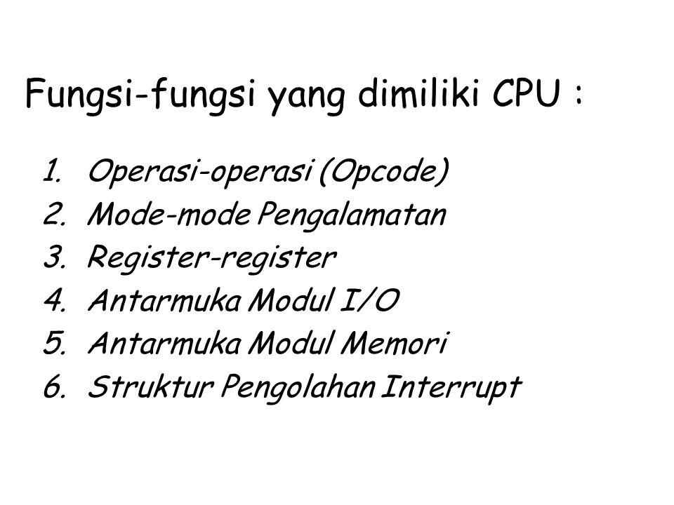 Fungsi-fungsi yang dimiliki CPU :