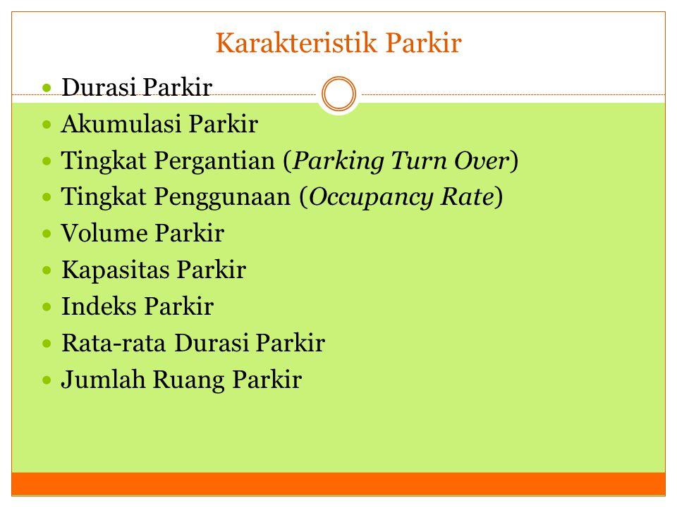 Karakteristik Parkir Durasi Parkir Akumulasi Parkir