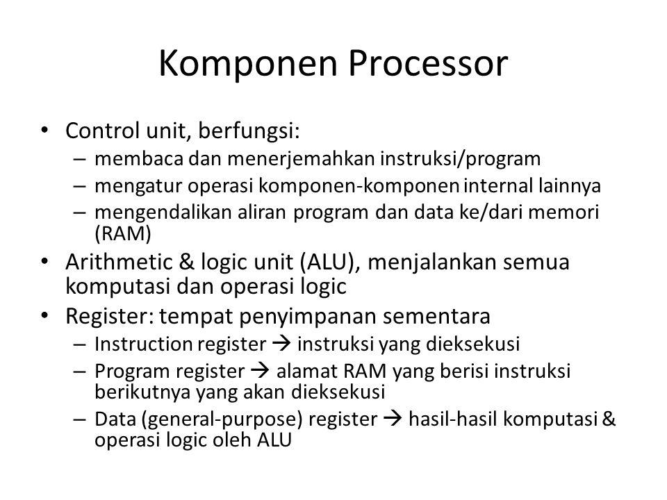 Komponen Processor Control unit, berfungsi: