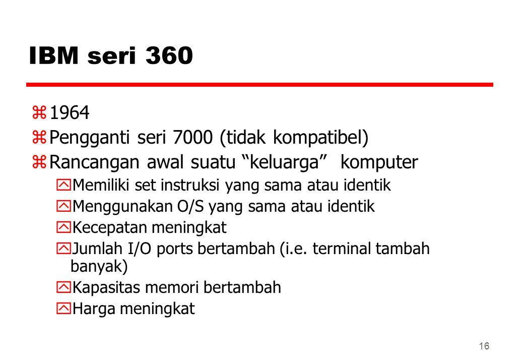 IBM seri 360 1964 Pengganti seri 7000 (tidak kompatibel)