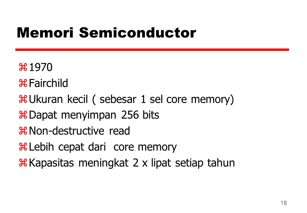 Memori Semiconductor 1970 Fairchild