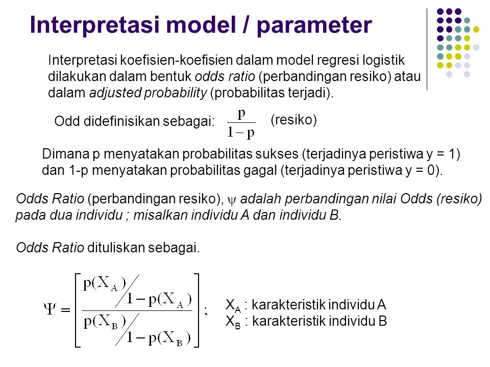 Interpretasi model / parameter