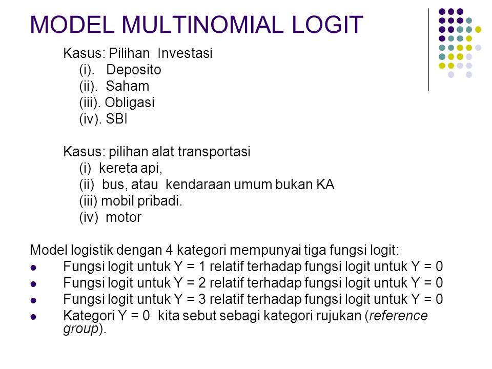 MODEL MULTINOMIAL LOGIT