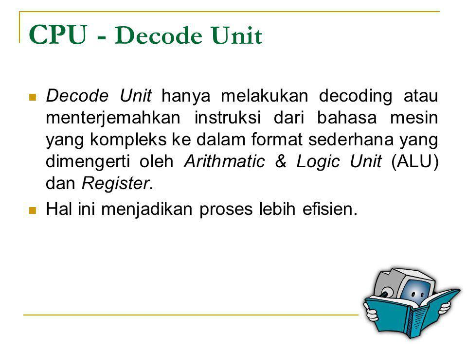 CPU - Decode Unit