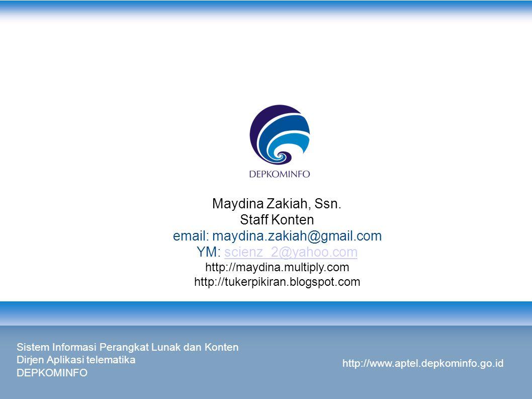 email: maydina.zakiah@gmail.com