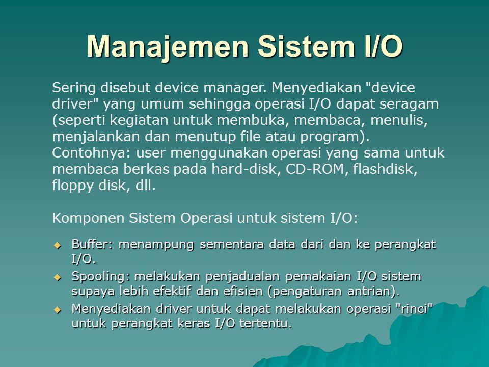 Manajemen Sistem I/O