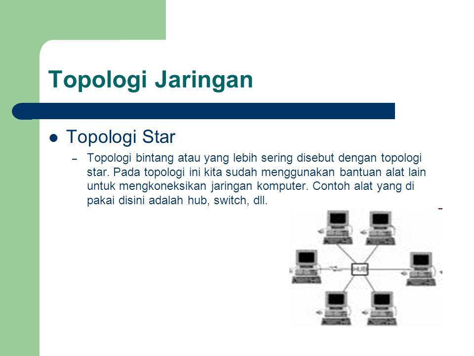Topologi Jaringan Topologi Star