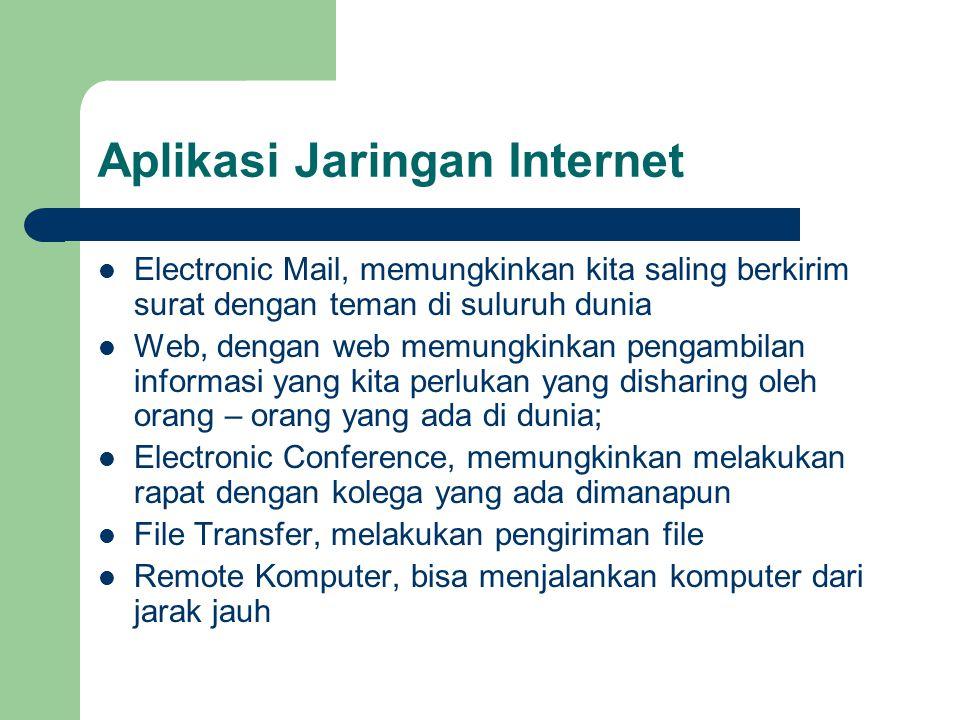 Aplikasi Jaringan Internet