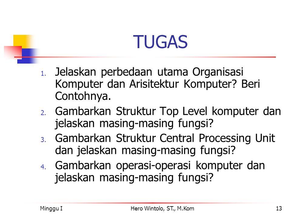 TUGAS Jelaskan perbedaan utama Organisasi Komputer dan Arisitektur Komputer Beri Contohnya.