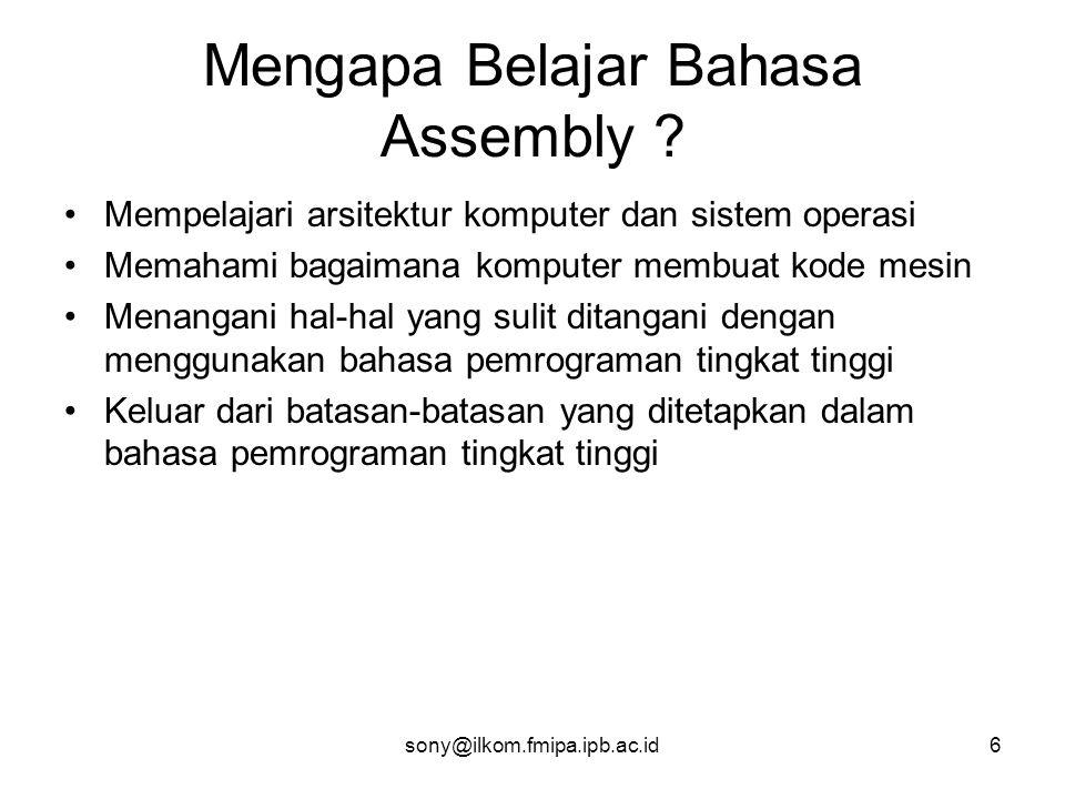 Mengapa Belajar Bahasa Assembly
