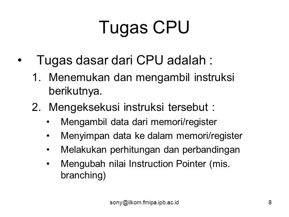 Tugas CPU Tugas dasar dari CPU adalah :