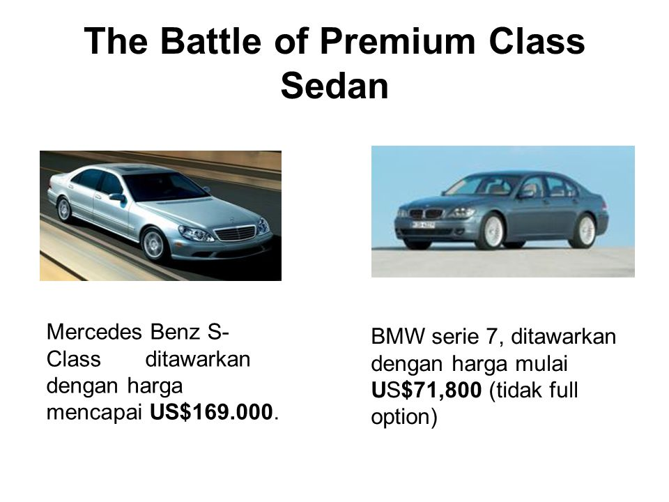 The Battle of Premium Class Sedan