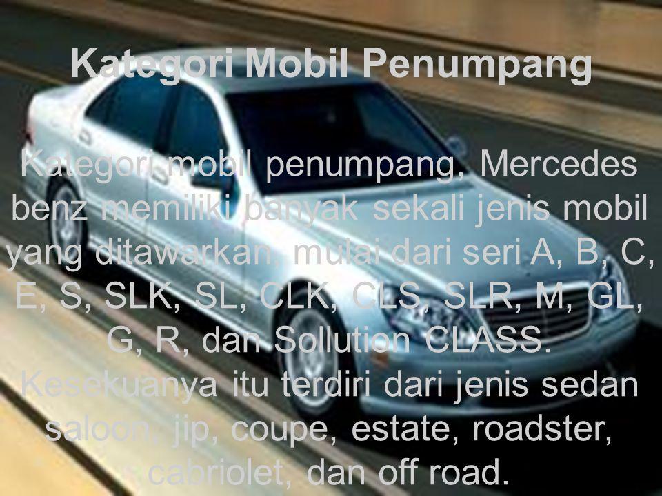 Kategori Mobil Penumpang