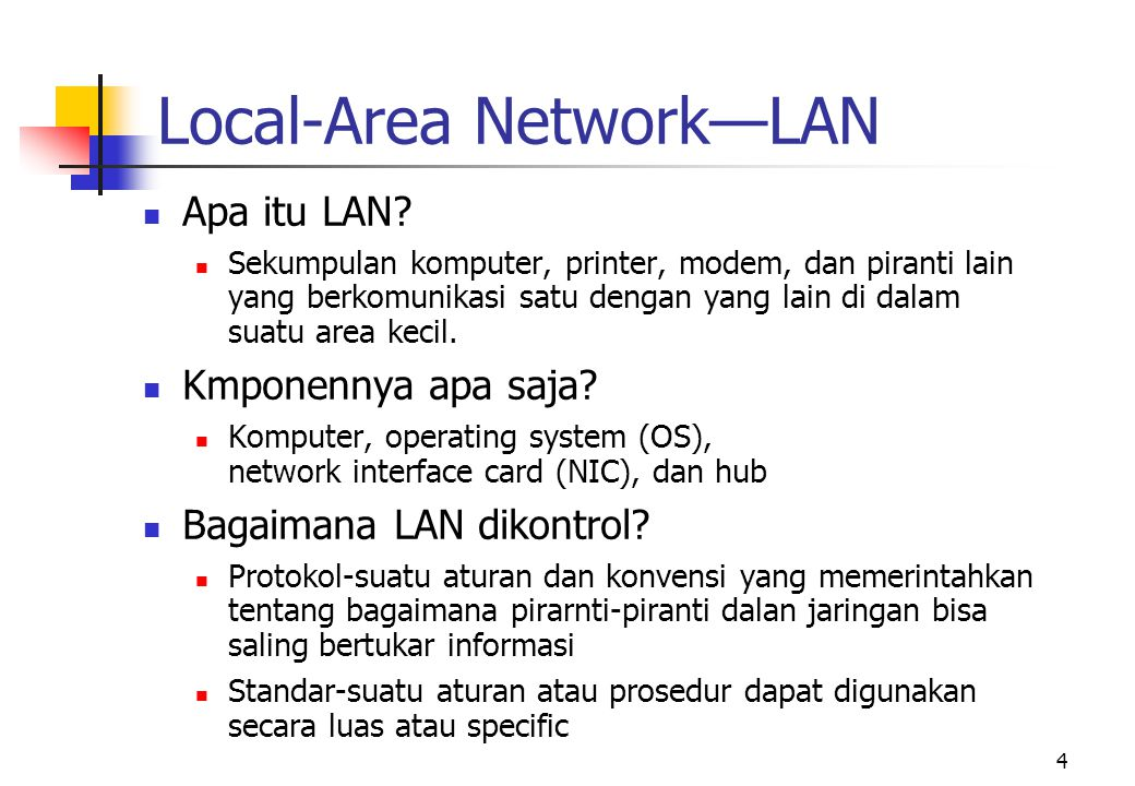 Local-Area Network—LAN