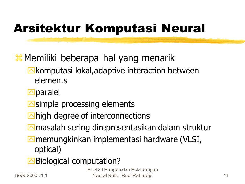 Arsitektur Komputasi Neural