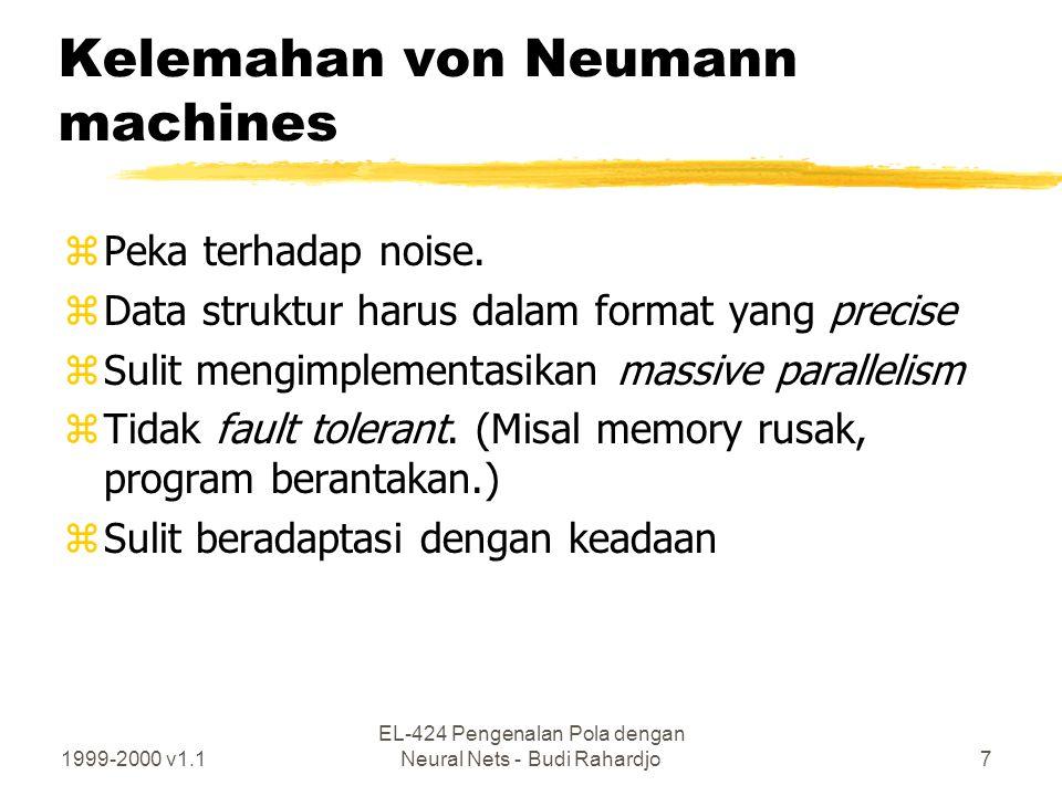 Kelemahan von Neumann machines