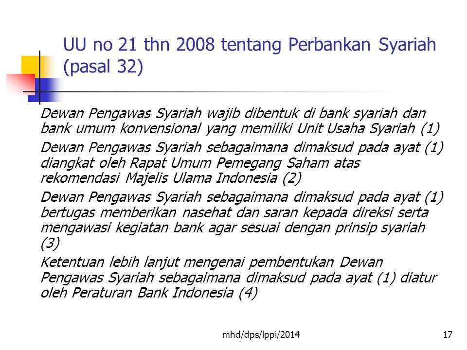 UU no 21 thn 2008 tentang Perbankan Syariah (pasal 32)