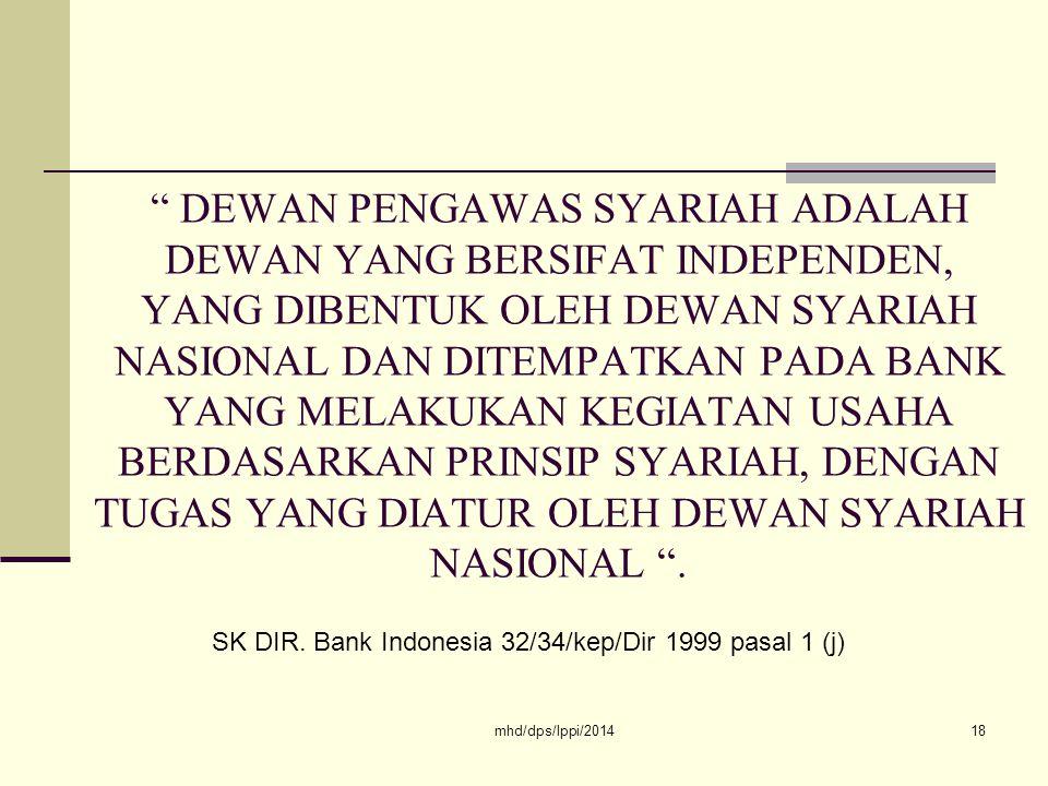 SK DIR. Bank Indonesia 32/34/kep/Dir 1999 pasal 1 (j)