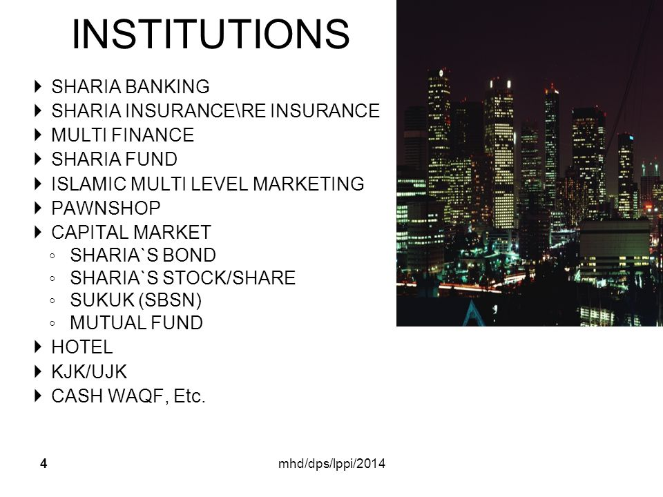 INSTITUTIONS SHARIA BANKING SHARIA INSURANCE\RE INSURANCE