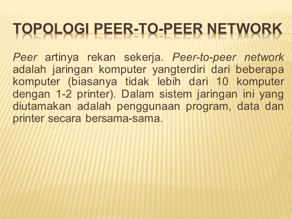 Topologi Peer-to-peer Network