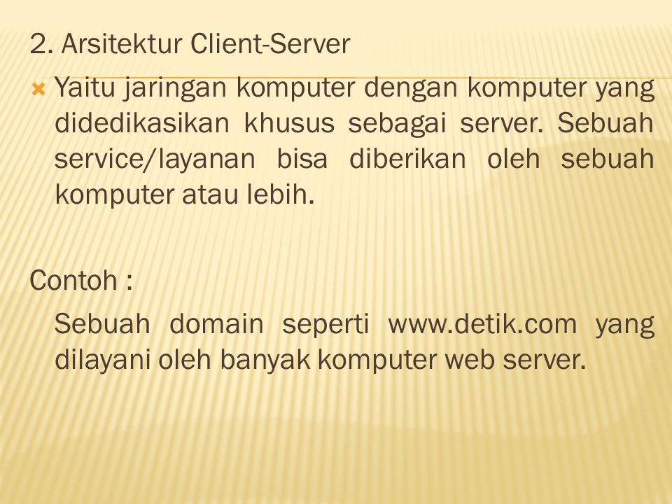 2. Arsitektur Client-Server