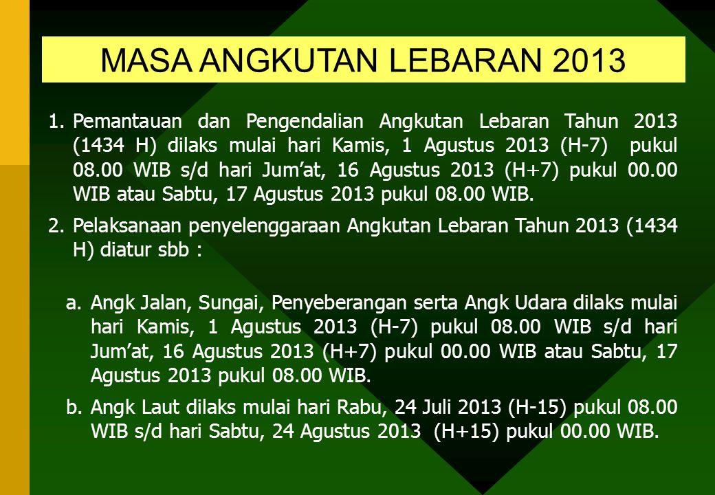 MASA ANGKUTAN LEBARAN 2013