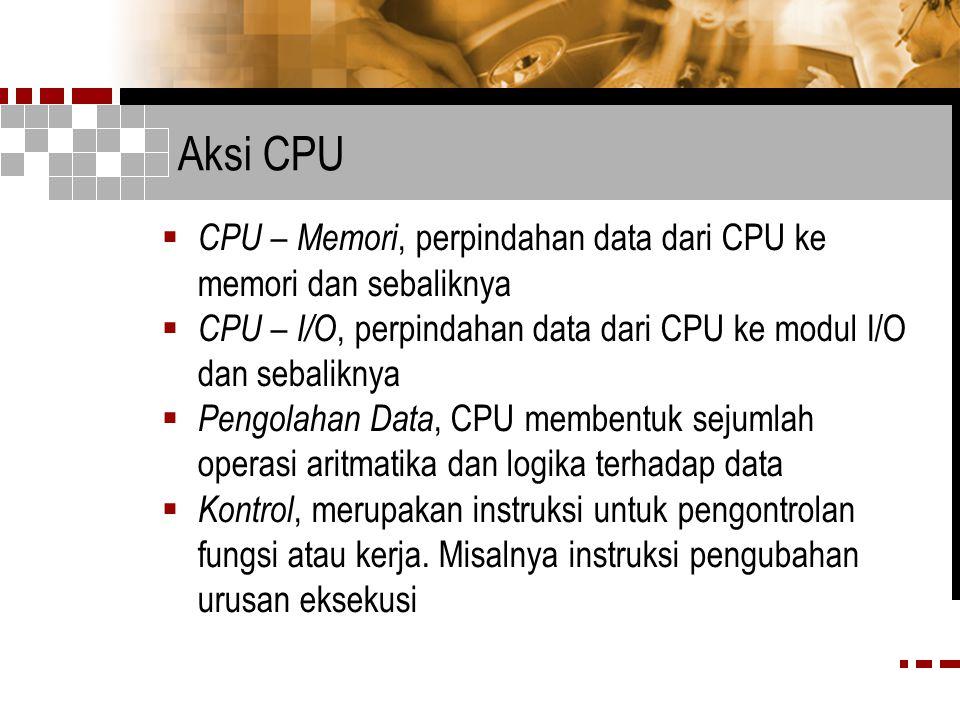 Aksi CPU CPU – Memori, perpindahan data dari CPU ke