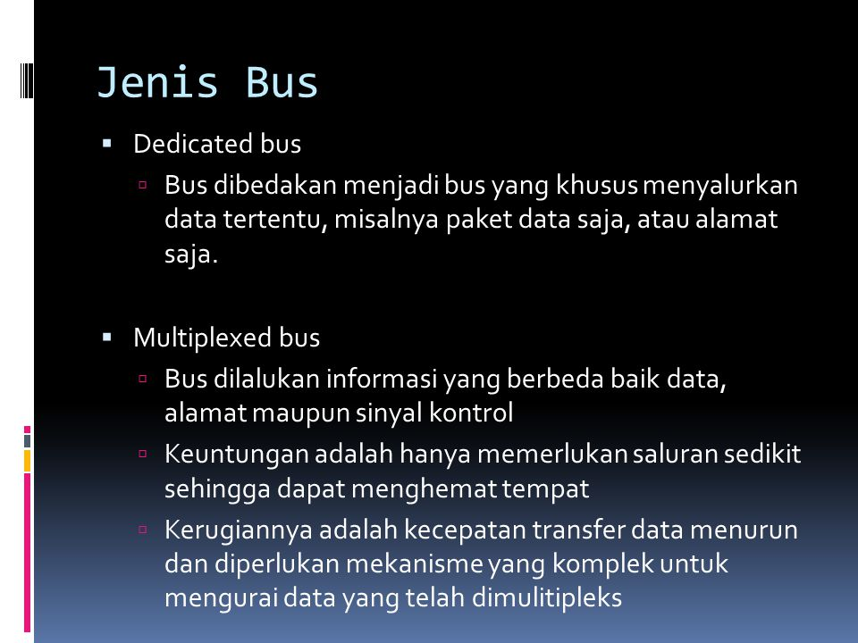 Jenis Bus Dedicated bus