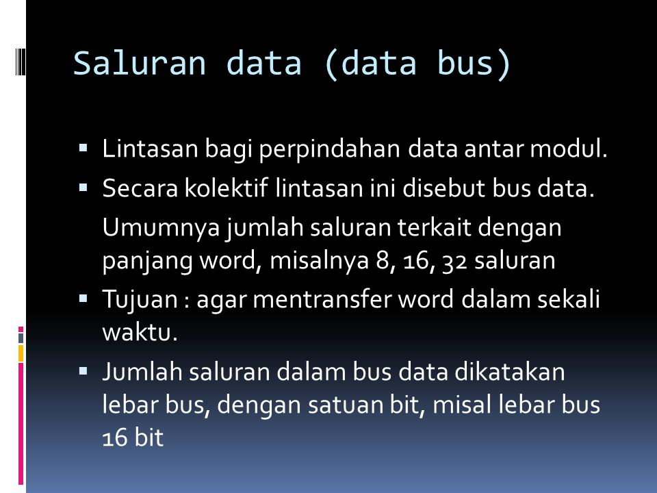Saluran data (data bus)