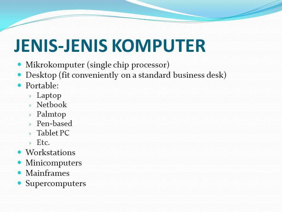 JENIS-JENIS KOMPUTER Mikrokomputer (single chip processor)