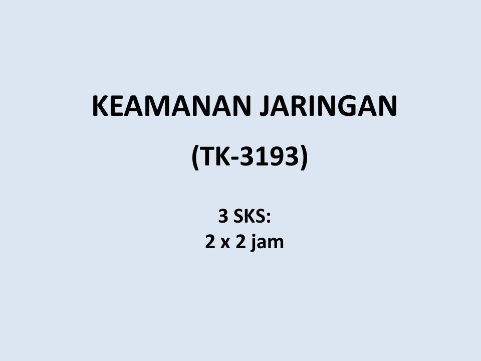 (TK-3193) KEAMANAN JARINGAN 3 SKS: 2 x 2 jam