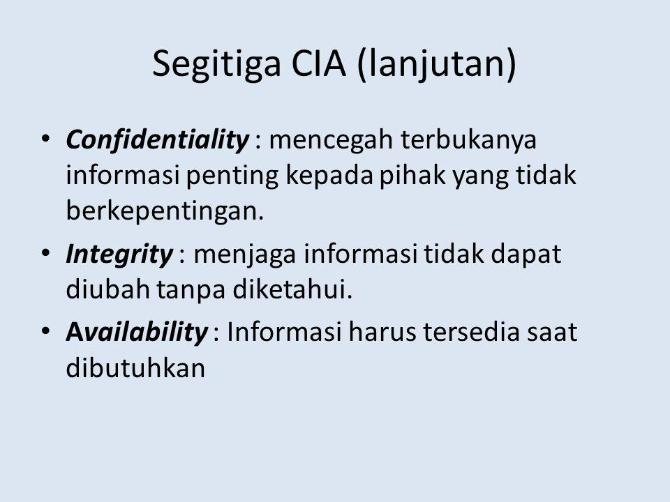 Segitiga CIA (lanjutan)