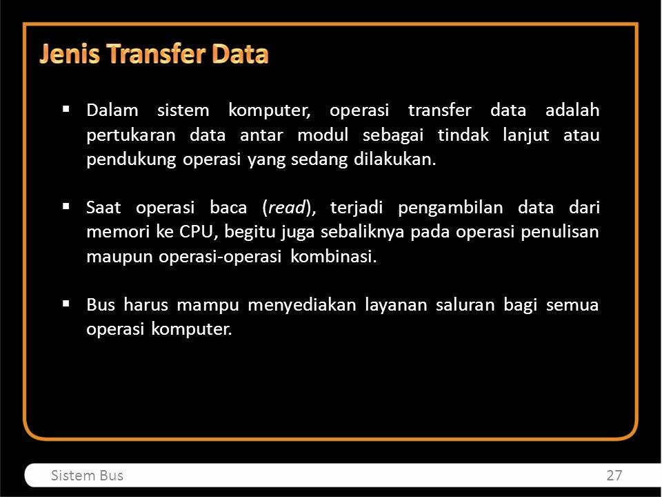 Jenis Transfer Data