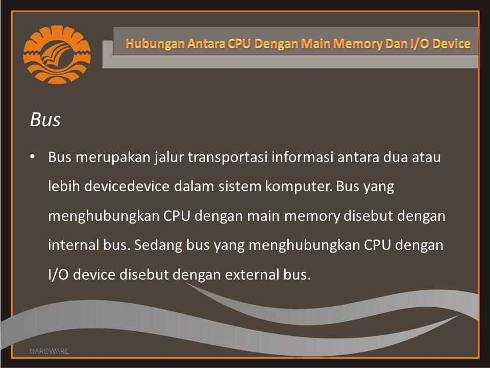 Hubungan Antara CPU Dengan Main Memory Dan I/O Device