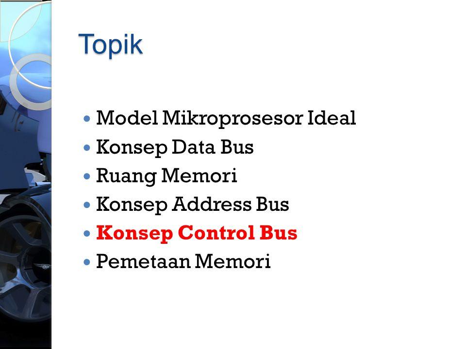 Topik Model Mikroprosesor Ideal Konsep Data Bus Ruang Memori