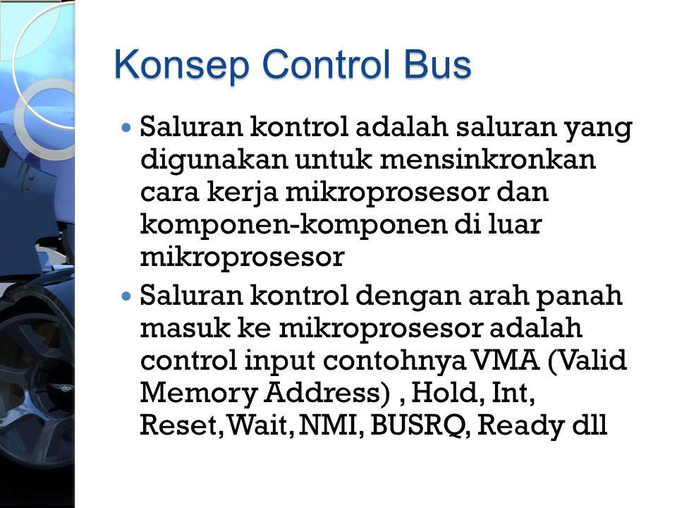 Konsep Control Bus