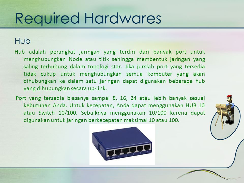 Required Hardwares Hub