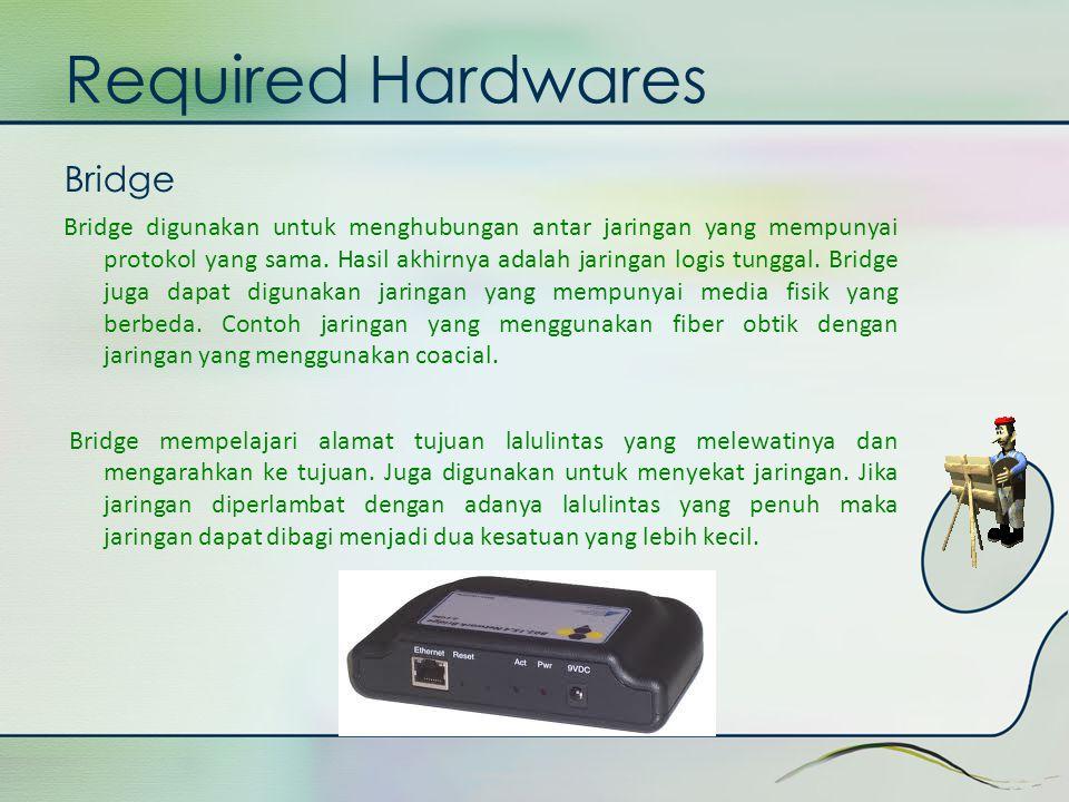 Required Hardwares Bridge