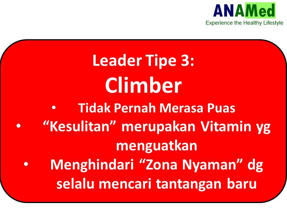 Climber Leader Tipe 3: Kesulitan merupakan Vitamin yg menguatkan