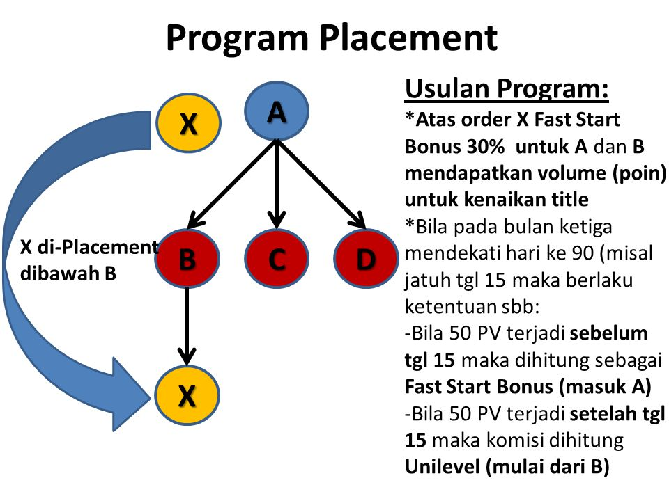 Program Placement A B C D X Usulan Program: