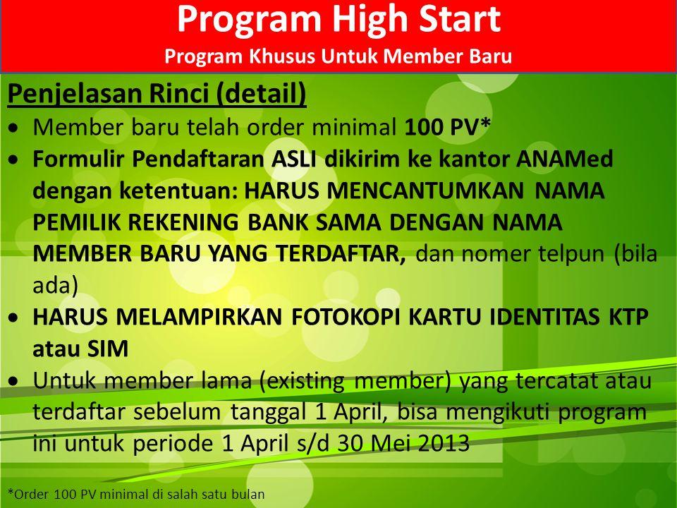 Program Khusus Untuk Member Baru