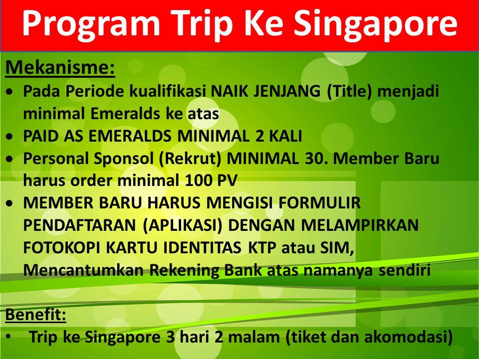 Program Trip Ke Singapore