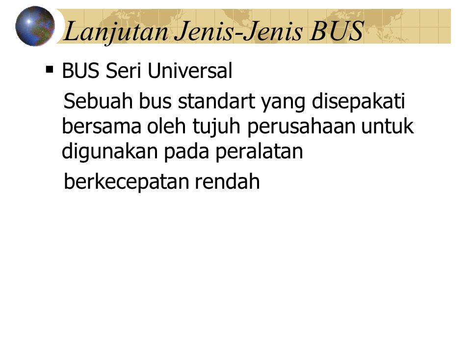 Lanjutan Jenis-Jenis BUS