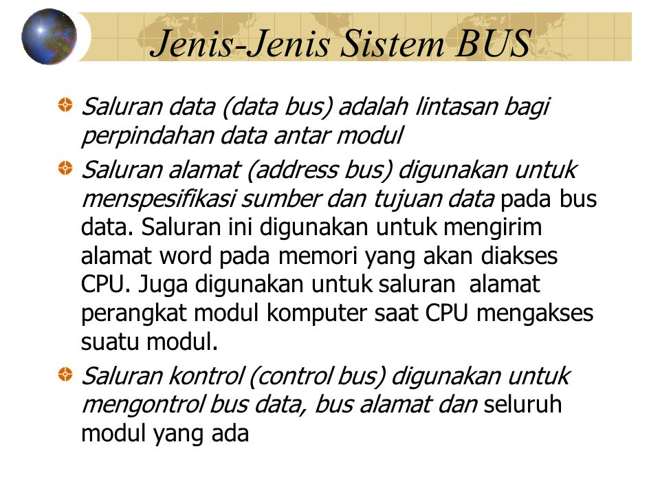 Jenis-Jenis Sistem BUS