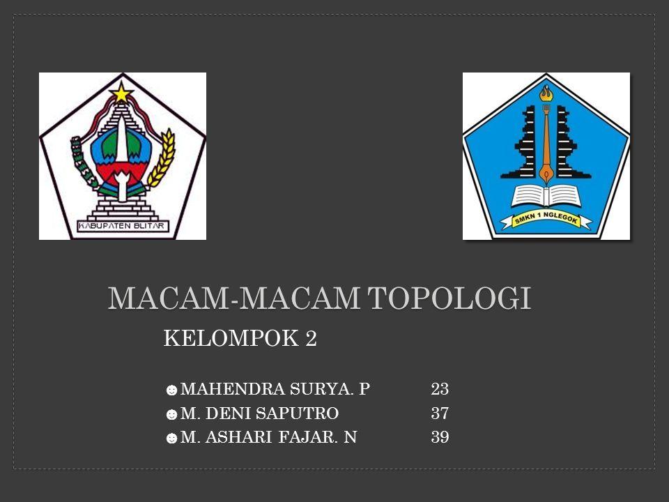 MACAM-MACAM TOPOLOGI KELOMPOK 2 MAHENDRA SURYA. P 23