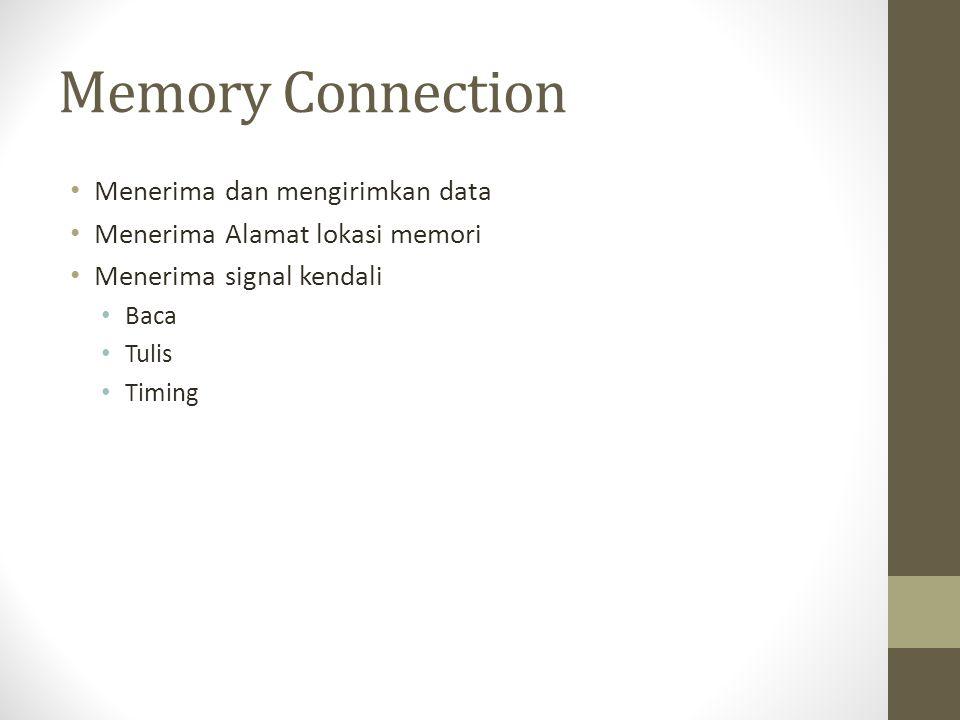 Memory Connection Menerima dan mengirimkan data