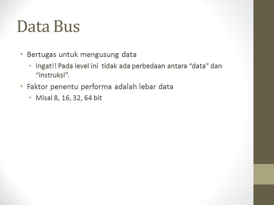 Data Bus Bertugas untuk mengusung data