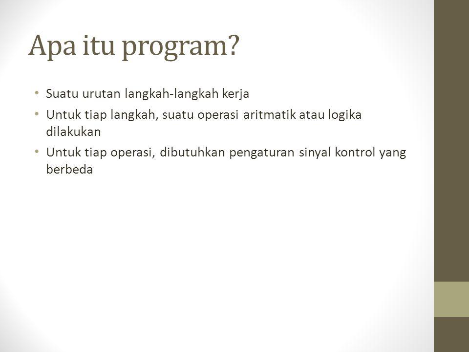 Apa itu program Suatu urutan langkah-langkah kerja