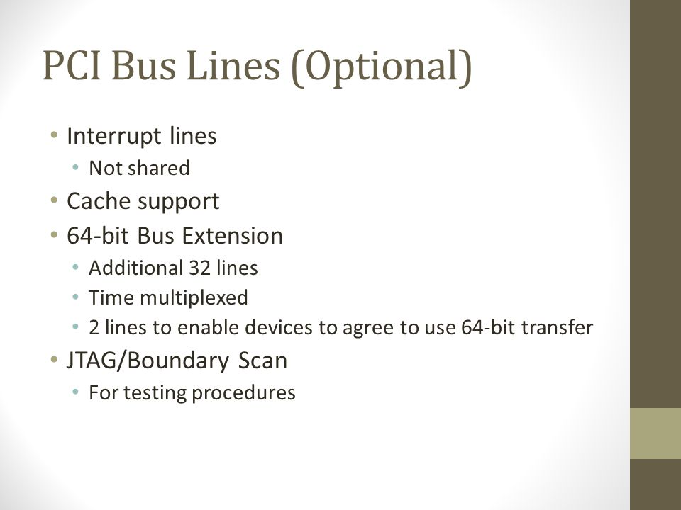 PCI Bus Lines (Optional)