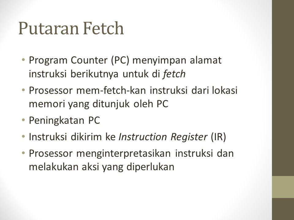 Putaran Fetch Program Counter (PC) menyimpan alamat instruksi berikutnya untuk di fetch.
